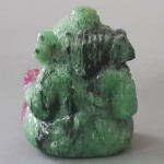 KG-079 Natural Unheated/Untreated Burmese Ruby in Zoisite carved ganesh ganesha Hindu God Deity Talisman Buddha amulet gemstone statue