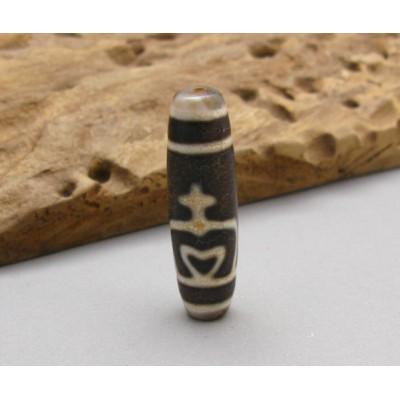 Antique Dzi Agate Tibet Power Stone Bead Pendant